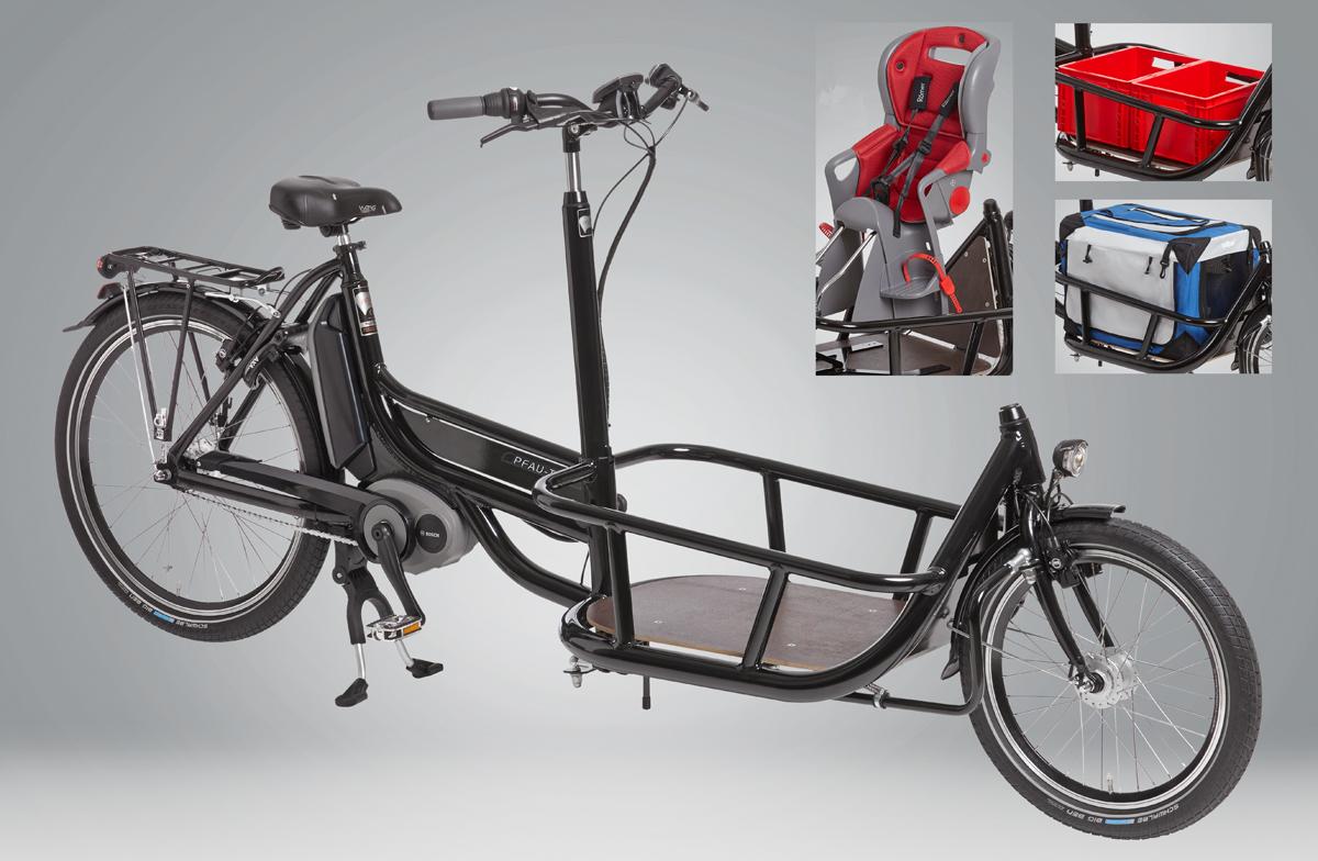 Pressemeldung: Lastentransport-Zweirad CARRIER mit Kindersitz