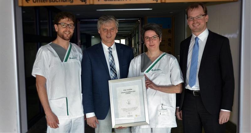 """Aktion """"Saubere Hände"""" an der Asklepios Orthopädischen Klinik Lindenlohe"""