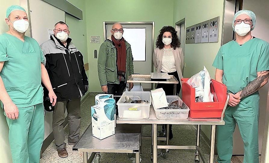 Asklepios Klinik im Städtedreieck spendet: Operationsmaterial für Kliniken in der Ukraine