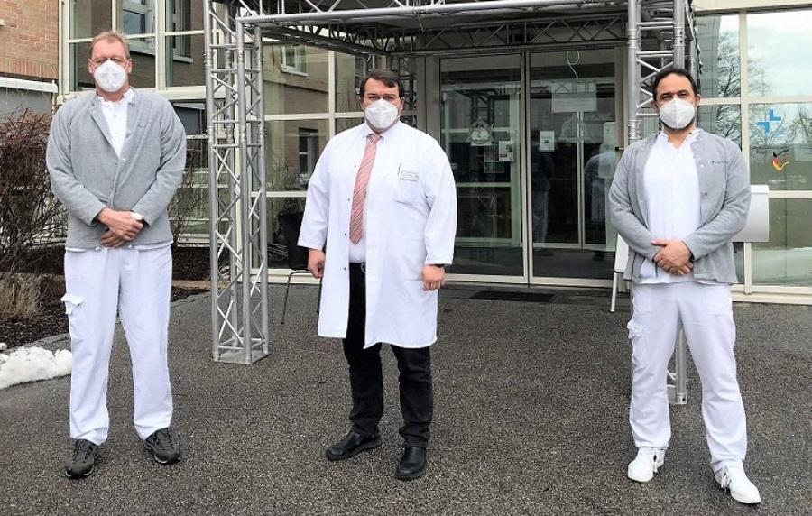 Zwei Neurochirurgen für das Wirbelsäulenzentrum Oberpfalz: Aiham Abdalhadi und Cristian Droste